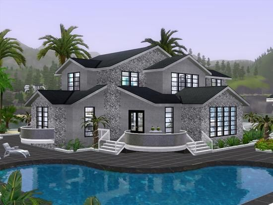 Gox35 S Modern Beach Resort Sims House Sims Sims 3 Houses Ideas