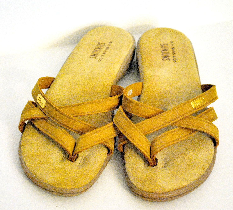 Vintage Bass Sunjuns Sandals- beach shoes of the 80s