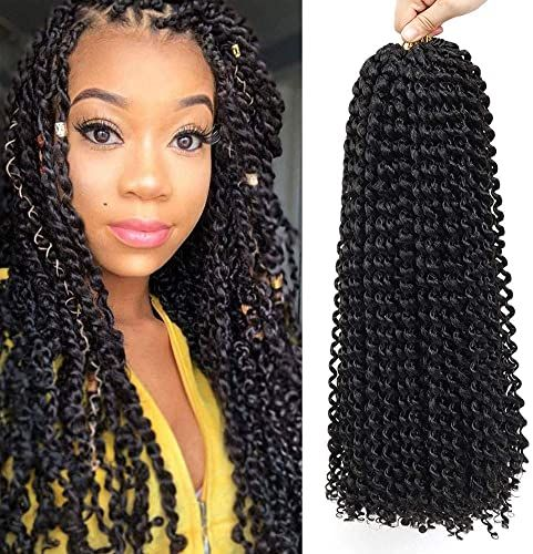 Best Seller 22 Inch 7 Packs Passion Twist Hair Long Inch Crochet Braids Hair Water Wave Passion Twist Braiding Hair Extensions (1B) online - Toplikestore