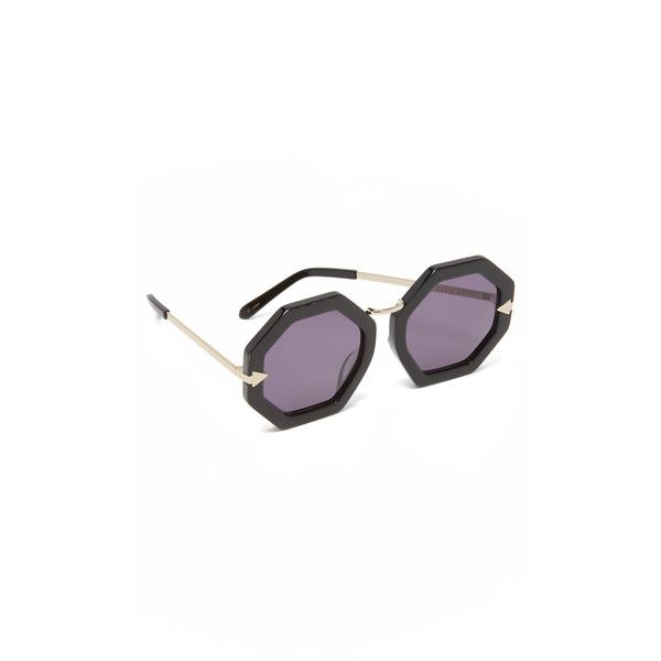 53097599c1a Karen Walker Moon Disco Sunglasses ( 295) ❤ liked on Polyvore featuring  accessories