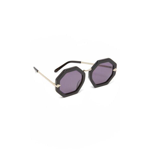 7ae9b0ac7f4f Karen Walker Moon Disco Sunglasses ($295) ❤ liked on Polyvore featuring  accessories, eyewear, sunglasses, karen walker eyewear, retro round  sunglasses, ...