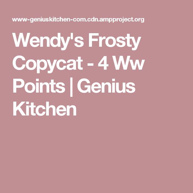 Wendy S Frosty Copycat 4 Ww Points Recipe Wendys Frosty Recipe No Cook Desserts Weightwatchers Recipes