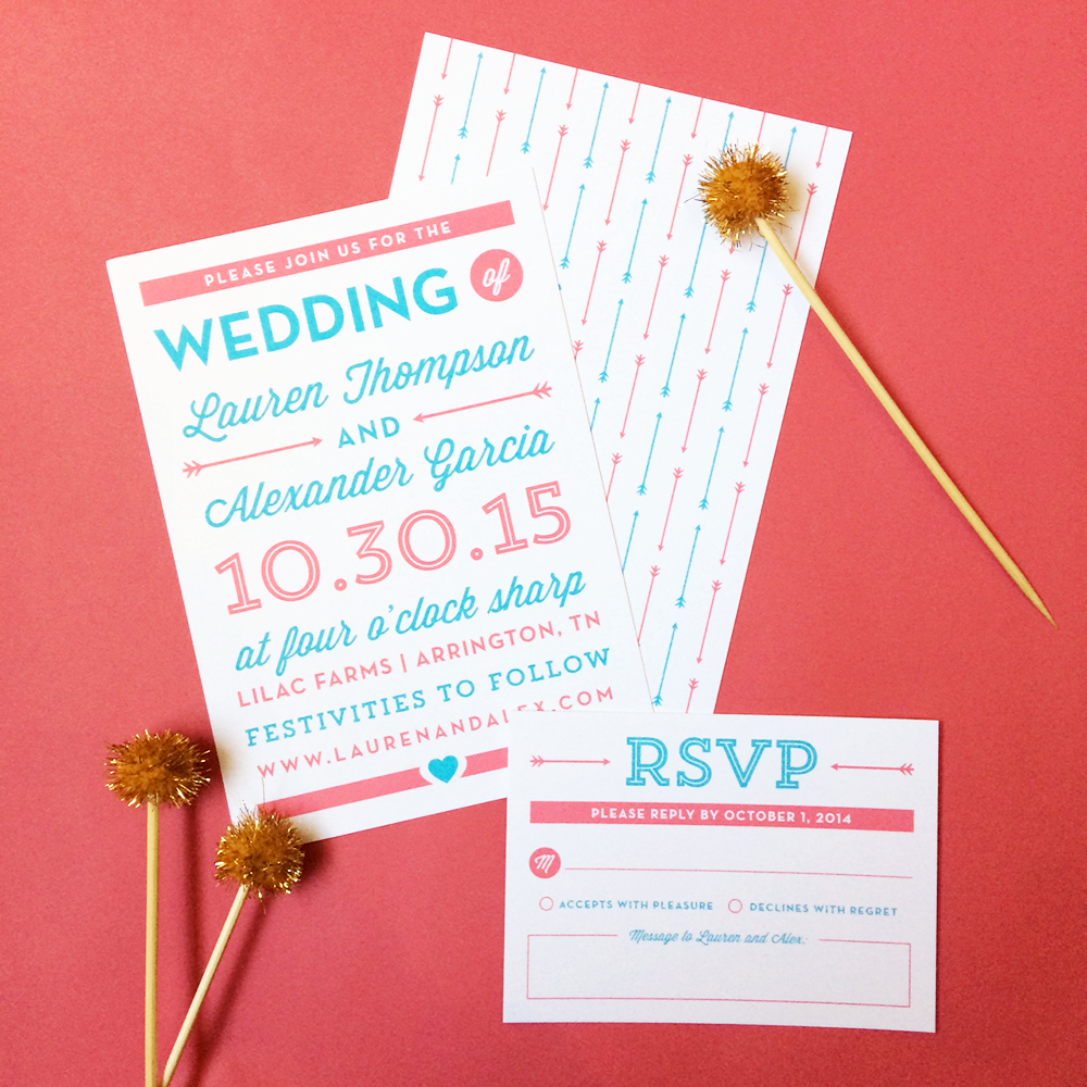 Big Day Wedding Invitations by Olivia Raufman | Elli.com | Modern ...