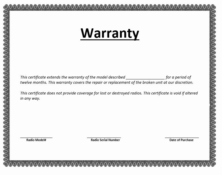 Letters Of Guarantee Templates Awesome Warranty Certificate Template Word Templates For Free Signs Youre In Love Word Template Certificate Templates