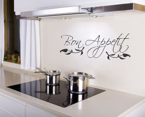 Details About Bon Appetit Wall Decal Removable Kitchen Sticker Art Decor Quote Mural Food Chef Kitchen Wall Decals Kitchen Stickers Kitchen Wall Stickers