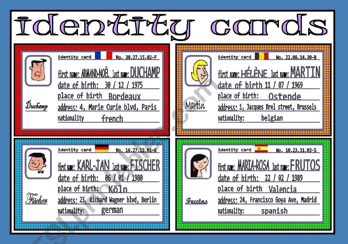 Identity Cards 1 3