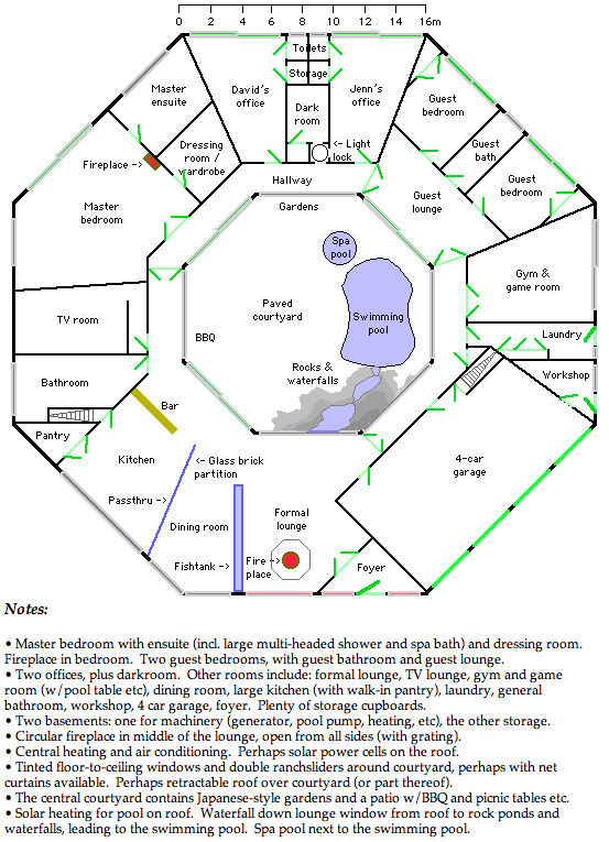 Octagon House Plans Vintage custom Octagonal Home design and building blueprint books