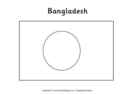 Bangladesh Flag Colouring Page