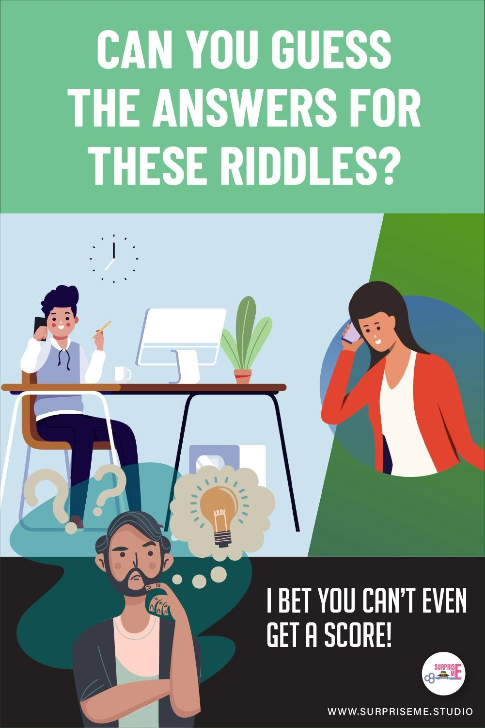Can You Guess the Answers for these Riddles? I Bet You