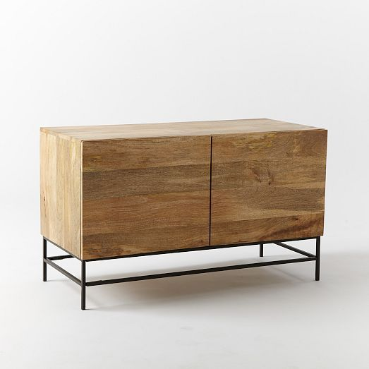 Rustic Storage Media Console Small West Elm 599 Furniture Home Office Design Home Decor