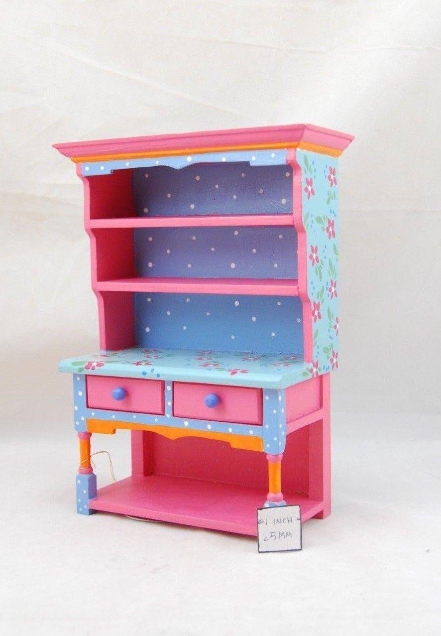 Painted Tall Dresser EWDP2146 Fashion Doll dollhouse furniture 1//6 /& 1//8 Scale