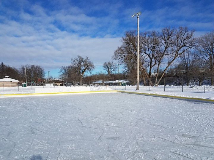 The ice rink is officially open. Enjoy and be safe. Lights ...