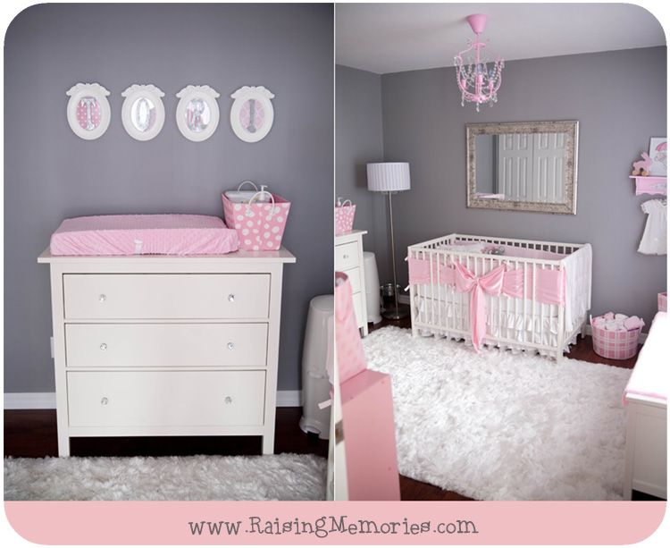 Grey and Pink Nursery Decorating Ideas by www ...
