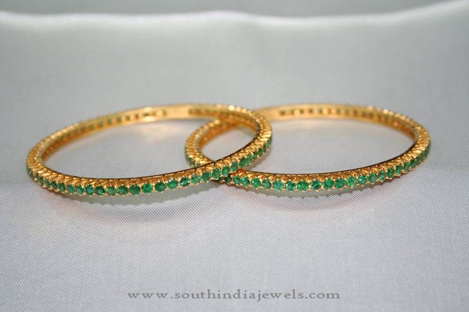 set red oval design and stones south bangles modern stone green tanadi intricate with large ethnic products golden traditional asian of jewelry