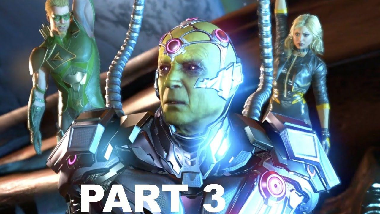 Injustice 2 Gameplay Part 3 Black Canary Green Arrow Brainiac Story Black Canary Green Arrow Injustice