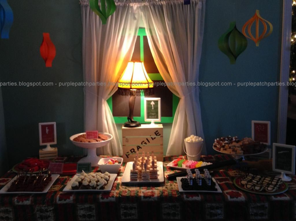 The Purple Patch: A Christmas Story themed Christmas Party   A ...