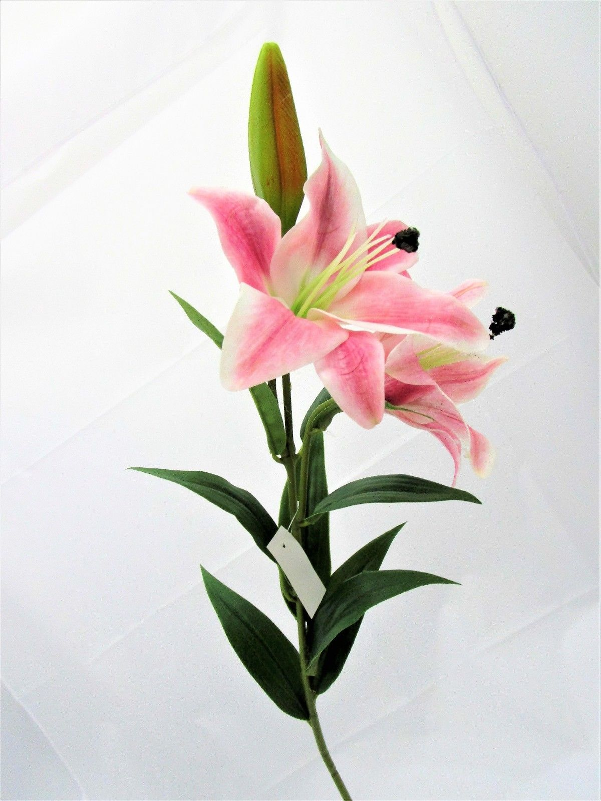 Artificial pink tiger lily spray 91cm 2 realistic feel