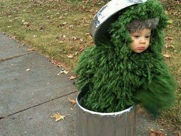 Oscar the Grouch costume? DONE Fabulous Halloween Kid Costume - unique toddler halloween costume ideas