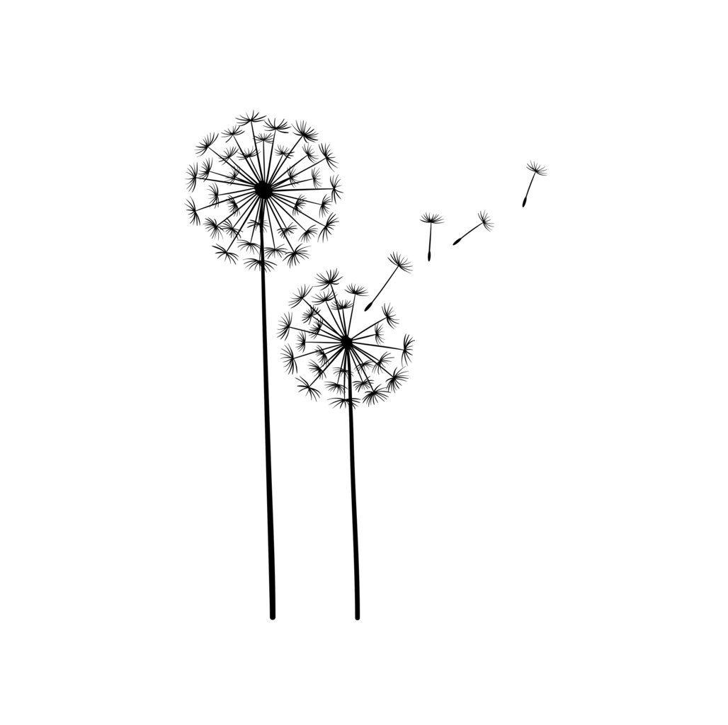 Muurverfstencil paardenbloemen