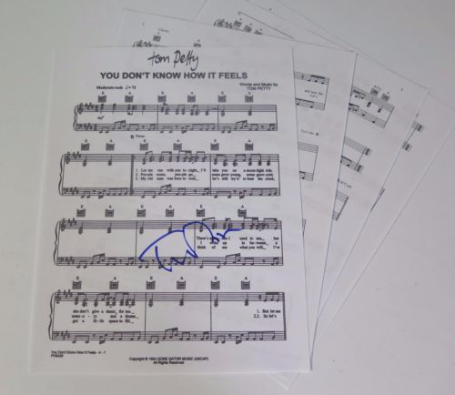Tom Petty Signed Autograph You Dont Know How It Feels Sheet Music