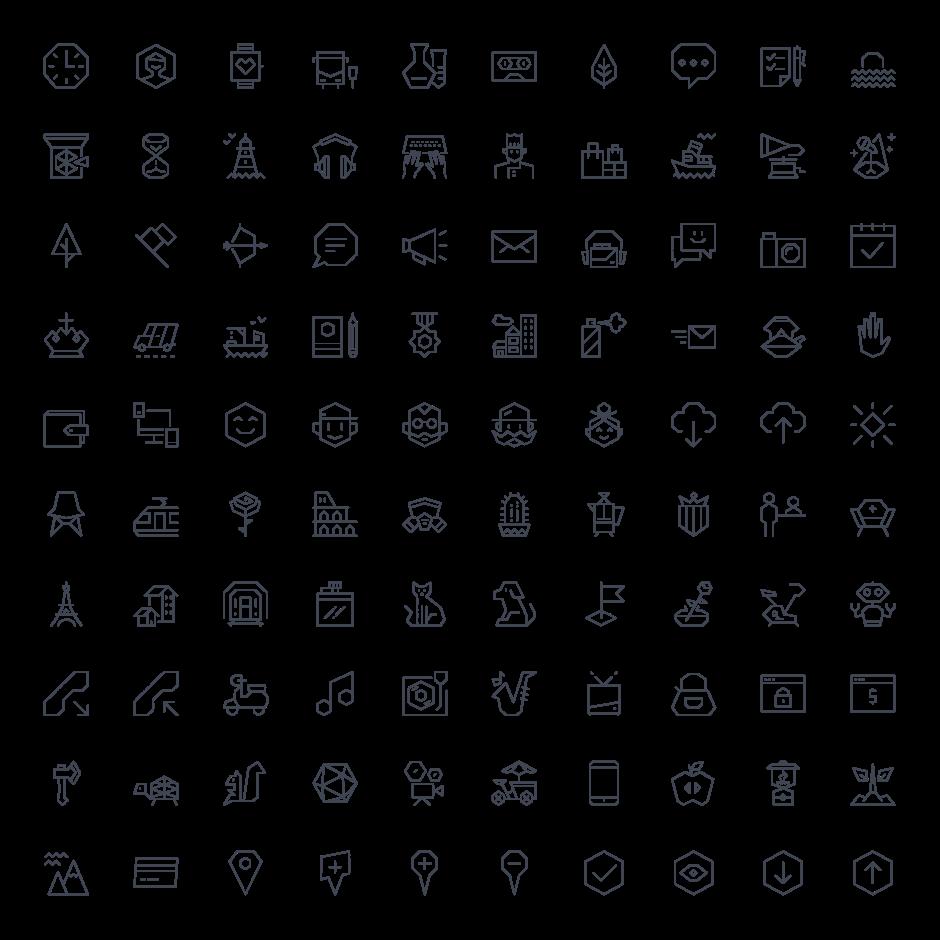 라인 아이콘 100개 .ai파일 100 EGO icons for FREE 아이콘, 무료 아이콘