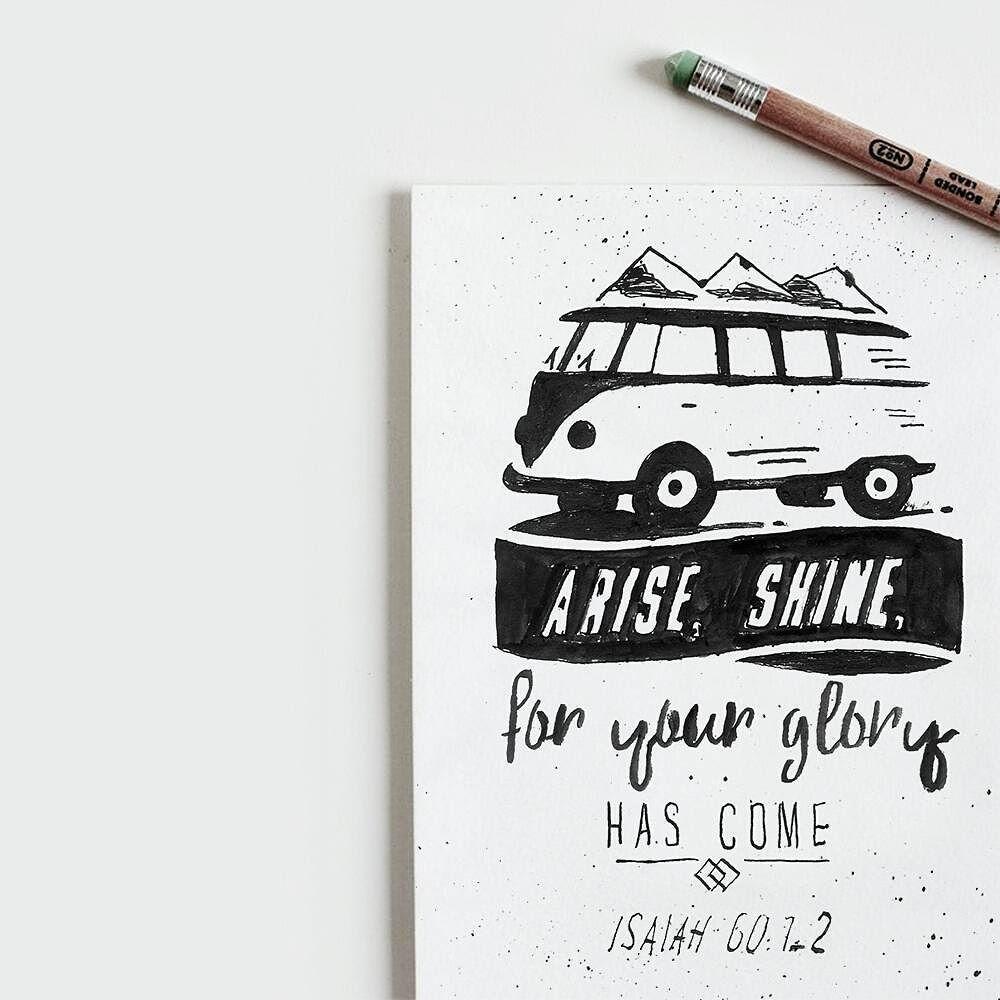 Day 24/#30daysofbiblelettering Levántate y resplandece que tu luz ha llegado! La gloria del Señor brilla sobre ti! Mira las tinieblas cubren la tierra y una densa oscuridad se cierne sobre los pueblos. Pero la aurora del Señor brillará sobre ti; sobre ti se manifestará su gloria!- Isaías 60:1-3 Arise shine; For your light has come! And the glory of the Lord is risen upon you. For behold the darkness shall cover the earth And deep darkness the people; But the Lord will arise over you And His…