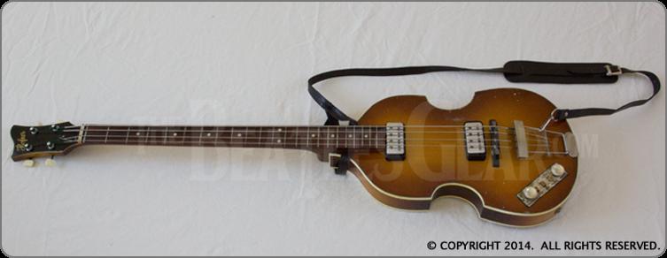 1962 63 Hofner 500 1 Bass Left Handed John Lennon Beatles The Beatles Bass Guitar
