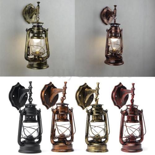 Home Garden Outdoor Wall Porch Lights E27 Retro Antique Vintage Rustic Lantern Outdoor Lamp Wall Sconce Light Fixture Stbalia Ac Id