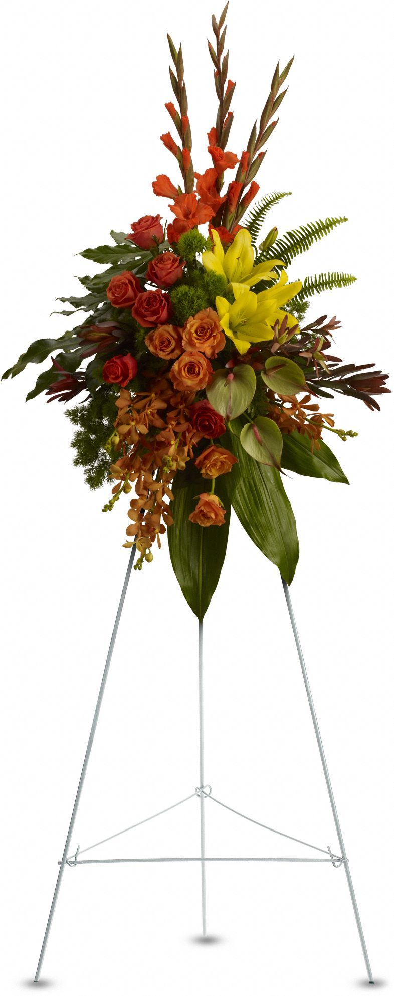 Tropical tribute spray cemetery flowers pinterest sprays inexpensive tropical funeral flower standing spray from send flowers send funeral standing sprays with exotic and unique flowers in a cheap standing spray izmirmasajfo
