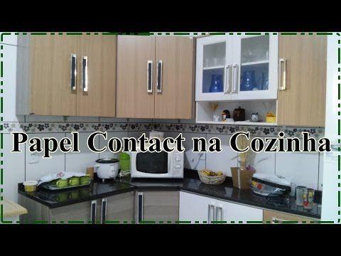 Decorando A Parede Da Cozinha Com Papel Contact Youtube