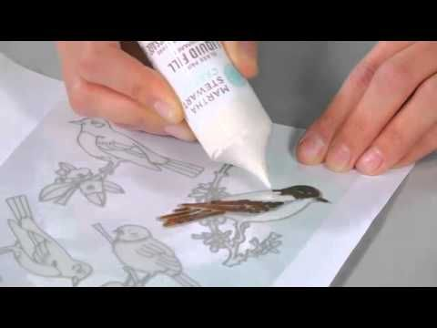 Martha Stewart Glass Painting - Create Paintable Clings with Liquid Fill