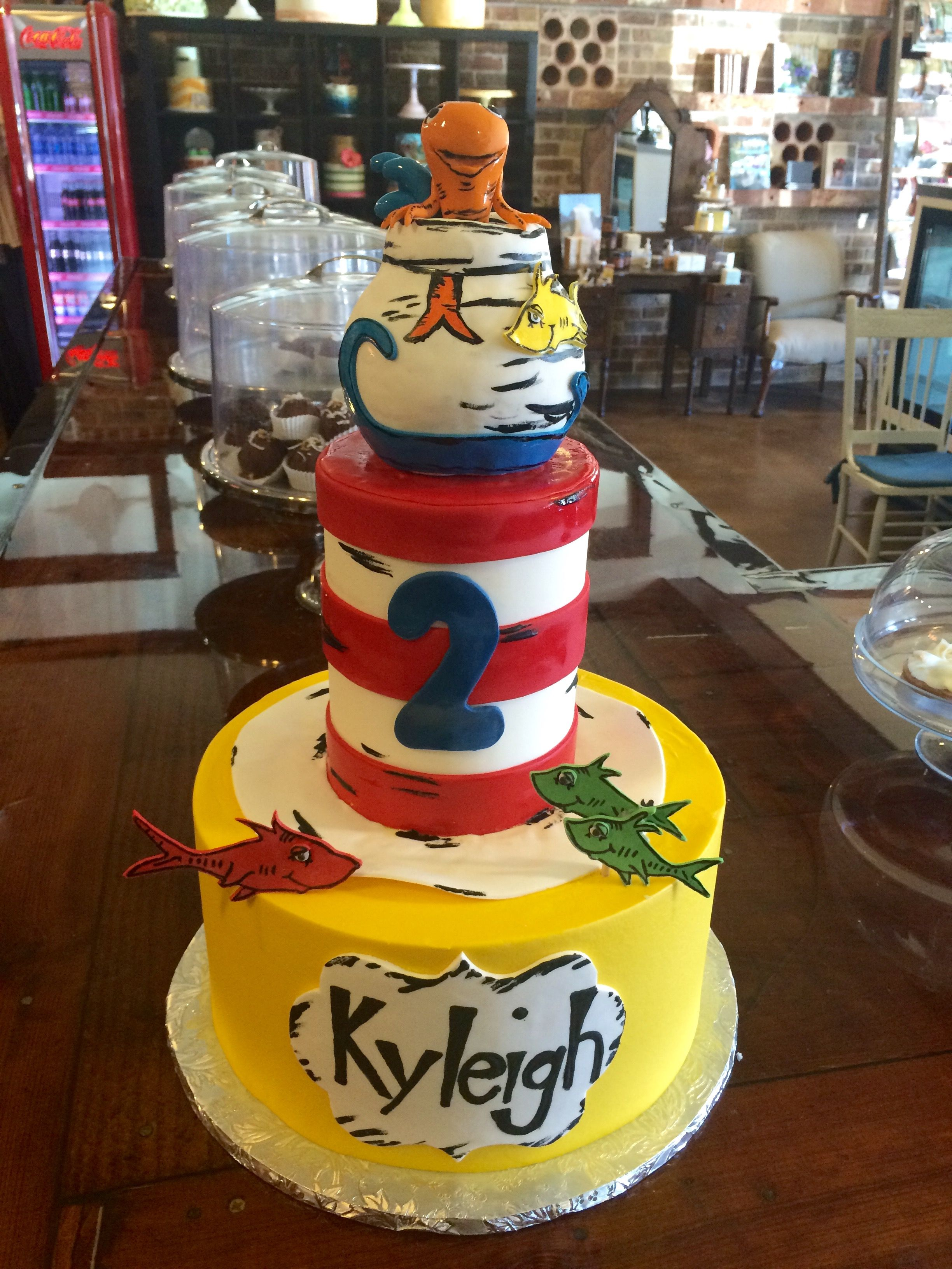 Cat in the Hat Theme Birthday Cake Sugar Bee Sweets Bakery