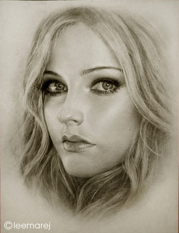 pencil art - female faces - drawing faces - realistic drawings