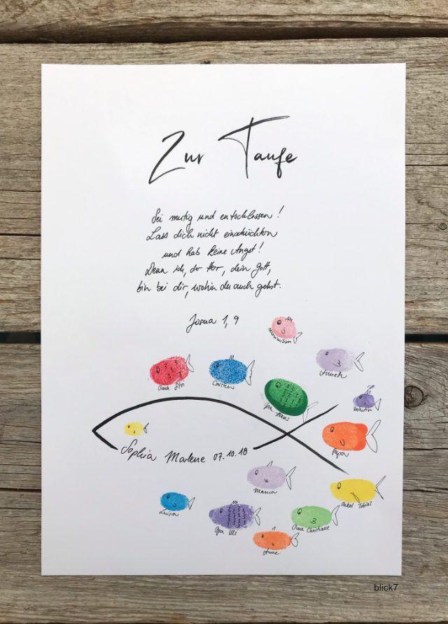 Ein Poster zur Taufe - blick7