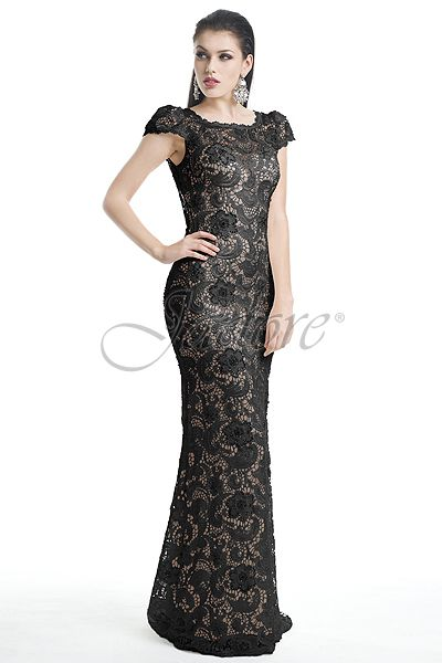 J5085 - Black/Nude Visit jadoreevening.ca to find a boutique near you!