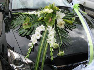 Ventouse de fleurs pour mariage rennes wedding car - Decoration voiture mariage ventouse ...