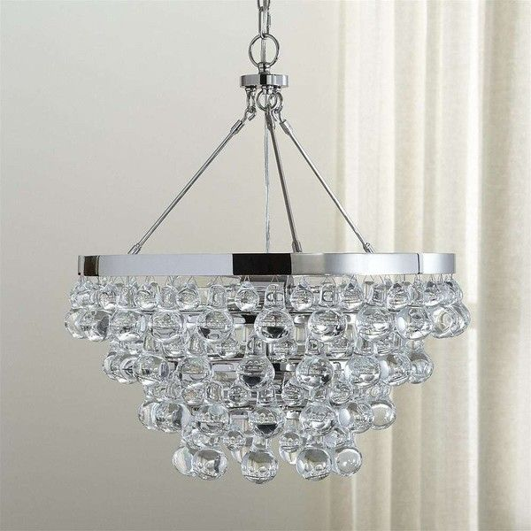 Crate barrel lure polished nickel chandelier 1200 ❤ liked on polyvore featuring home