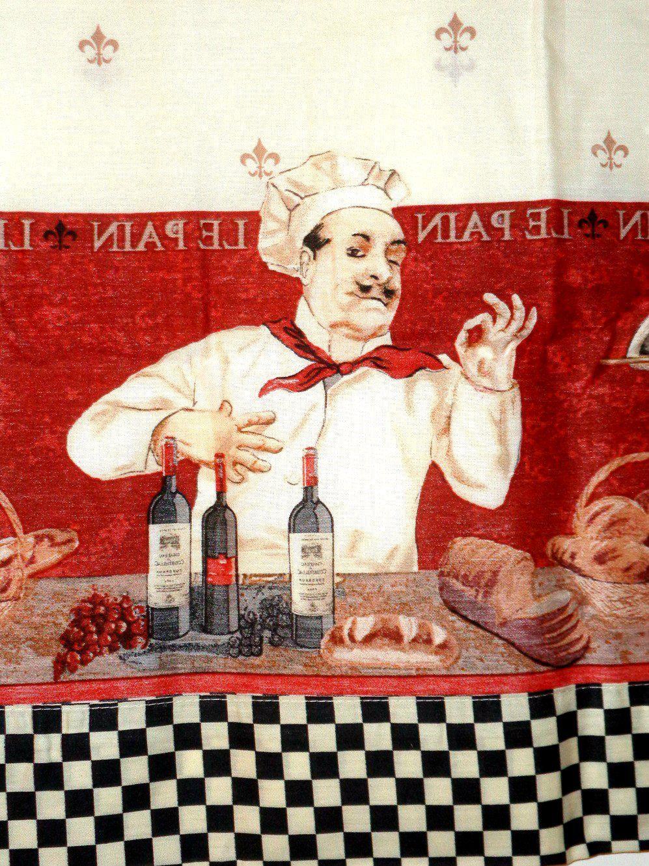 Italian Chef Kitchen Curtains Set Valance Tiers 24 95 Kitchen