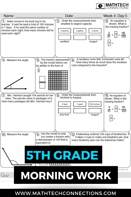 5th Grade Math Bundle Guided Math Or Math Workshop 5th Grade Math Guided Math Math Sort [ 1500 x 1000 Pixel ]
