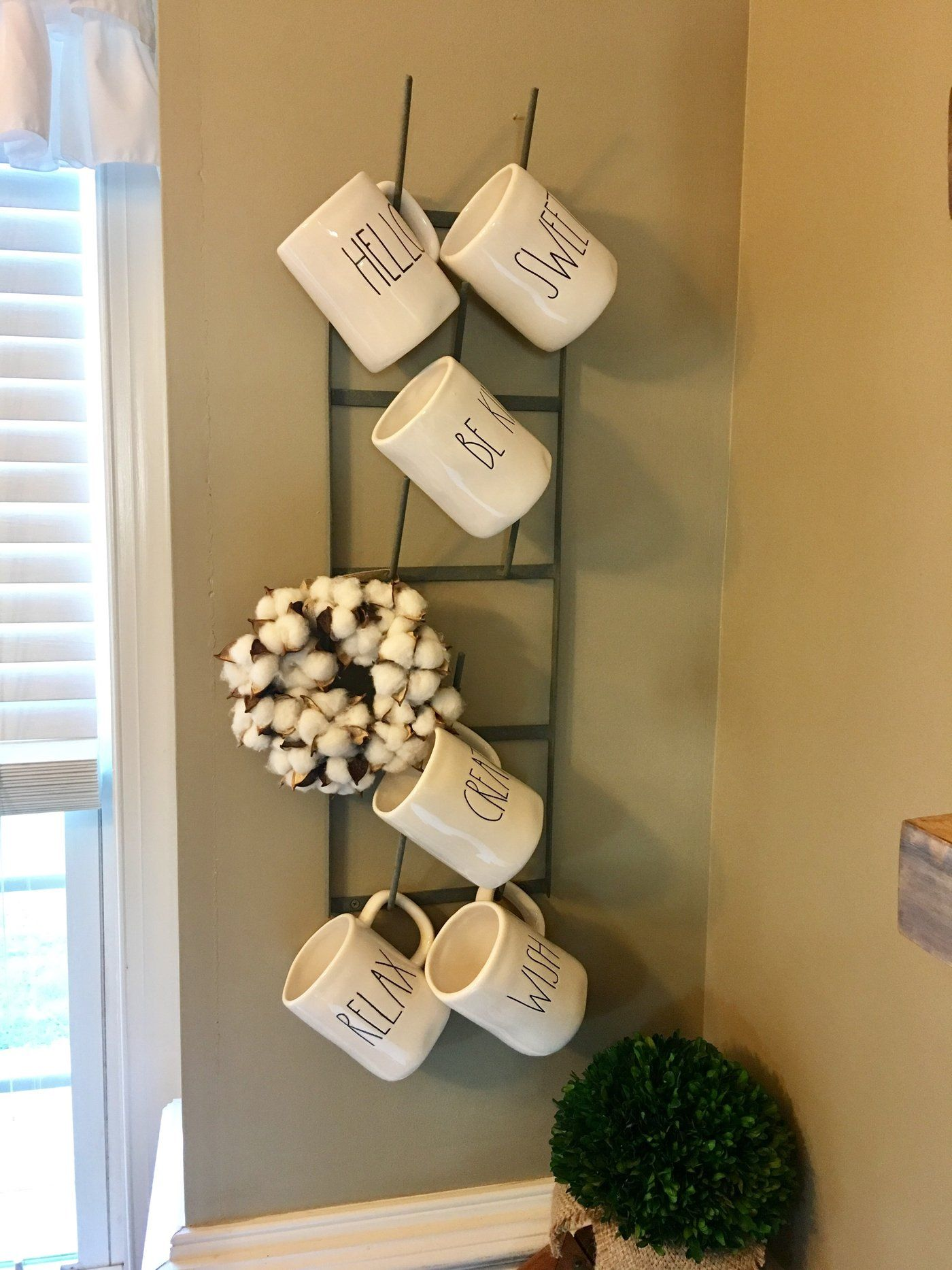 Narrow Coffee Mug Rack French Bottle Drying Rack Skinny Mug Rack Mug Rack Mug Display Hanging Mugs