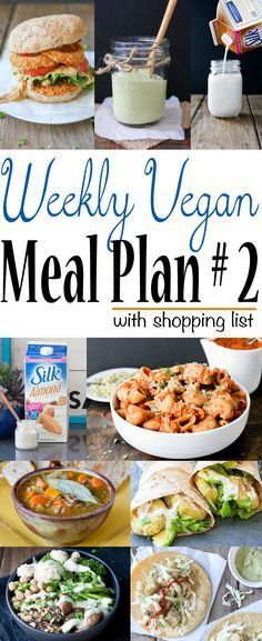 Weekly vegan meal plan and shopping list plant pinterest comida weekly vegan meal plan and shopping list forumfinder Choice Image