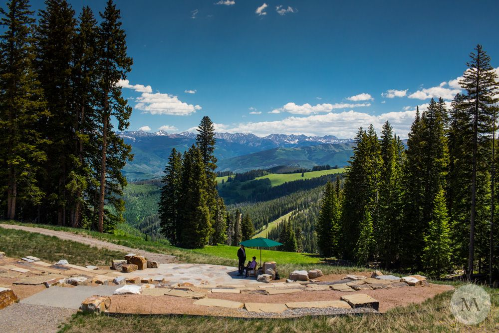 Summer Wedding On The Beaver Creek Deck Colorado What A View Www Idoweddingservices