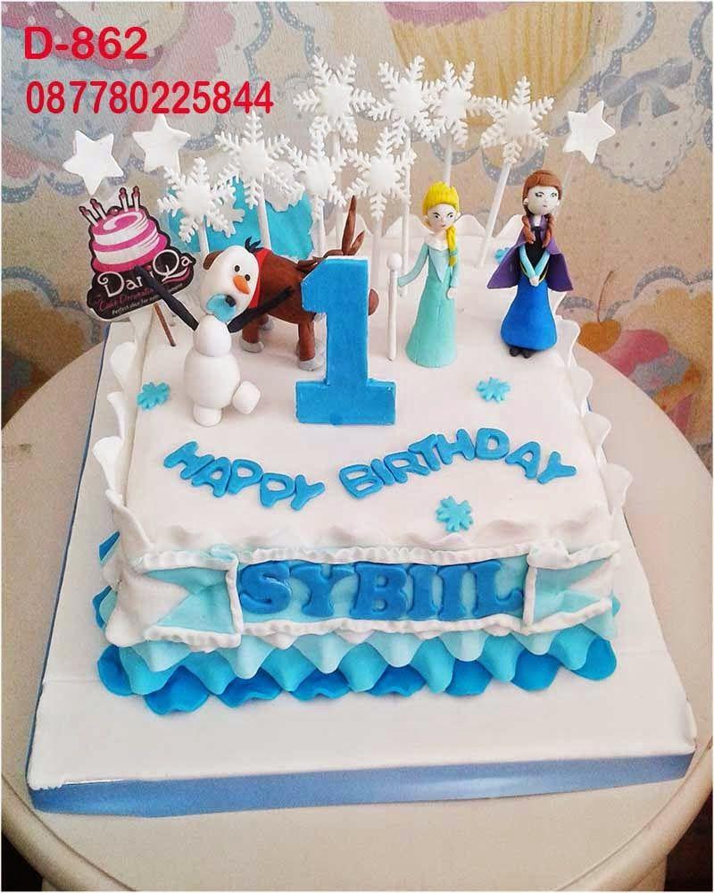 Daniqa Cake And Snack Kue Ulang Tahun Disney Frozen Cake