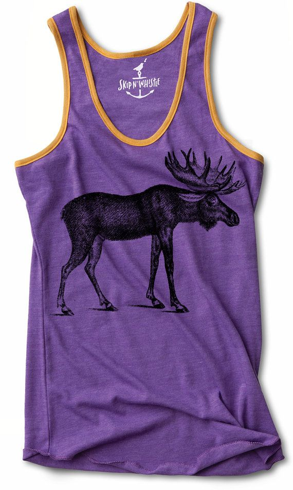 Tank Top MOOSE for yoga or crossfit womens shirt  S M L XL on Etsy, $26.23 CAD