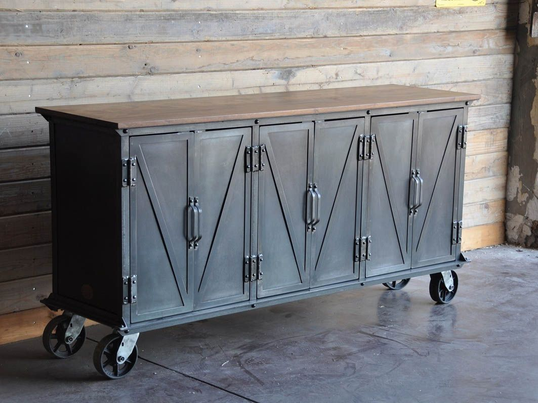 Factory caster vintage industrial furniture - Ellis Sideboard By Vintage Industrial Furniture In Phoenix Az