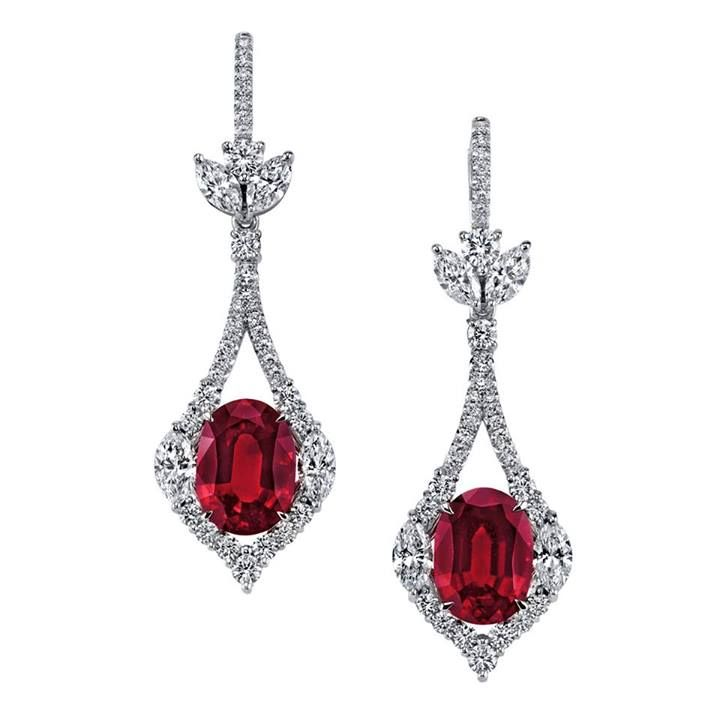 8.16 carats of unheated ruby and diamond earrings from Omi Prive ...