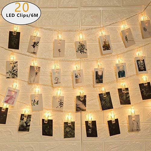 Led Bilder Weihnachten.Gigalumi Led Foto Lichterkette Mit 20 Leds Foto Clips 6
