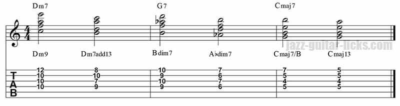 II-V-I jazz guitar voicings | music information | Pinterest | Jazz ...