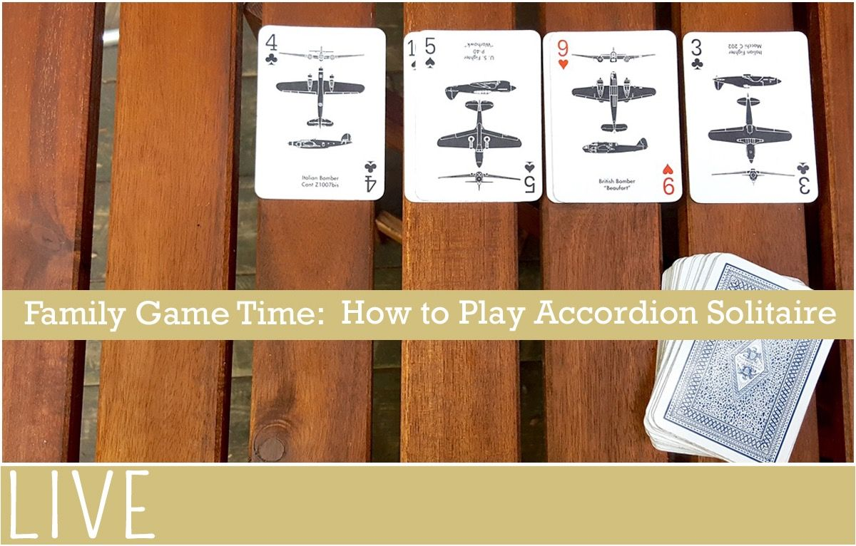 How to Play Solitaire Card Game Accordion Solitaire card