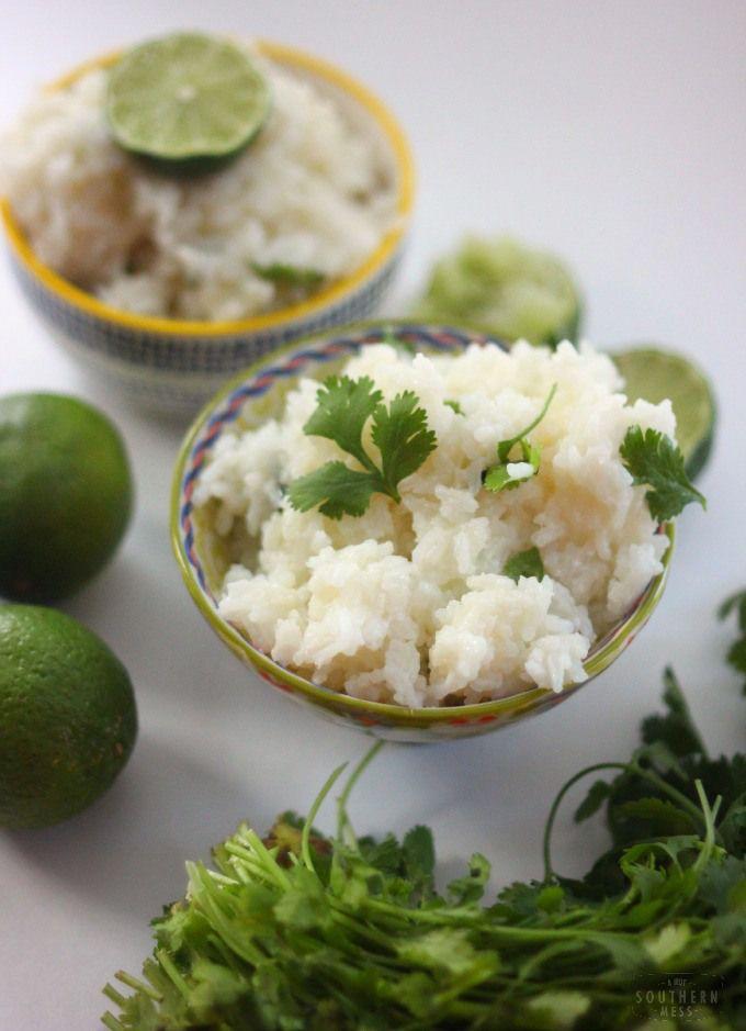 Garlic Cilantro Lime Rice | A Hot Southern Mess